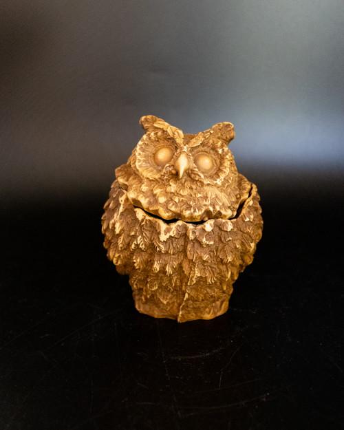 Resin Owl Jar