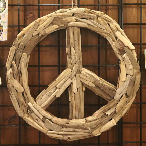 Large Driftwood Peace Sign