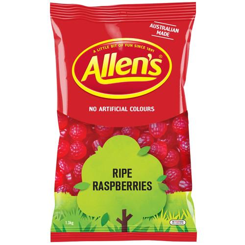 Allens ripe raspberries