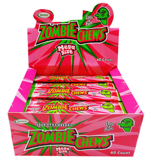 zombie chews sour strawberry