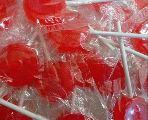 Flat Lollipops Red