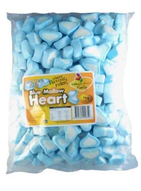 heart marshmallows blue