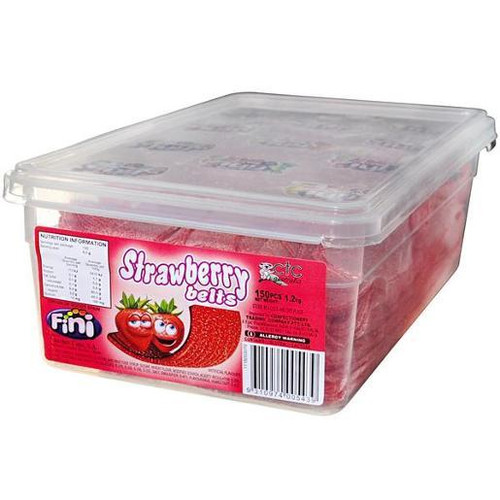 fini strawberry belts