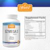 EZ Mega 3™ Omega-3 Fish Oil Softgels | 600mg | 60 Servings