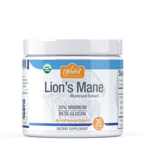 Lion's Mane Mushroom Extract Powder | 30% Beta Glucan Min. | Whole Fruiting Body | Hericium erinaceus