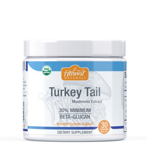 Turkey Tail Mushroom Extract Powder | 30% Beta Glucan Min. | Whole Fruiting Body | Trametes versicolor