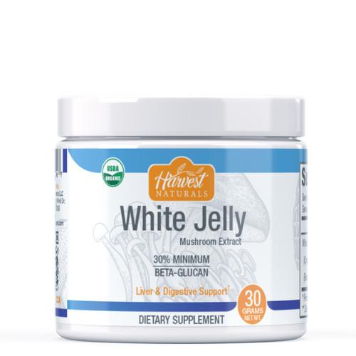 White Jelly Mushroom Extract Powder | 30% Beta Glucan Min. | Whole Fruiting Body | Tremella fuciformis