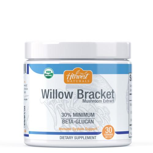 Willow Bracket Mushroom Extract Powder | 30% Beta Glucan Min. | Phellinus igniarius | Whole Fruiting Body