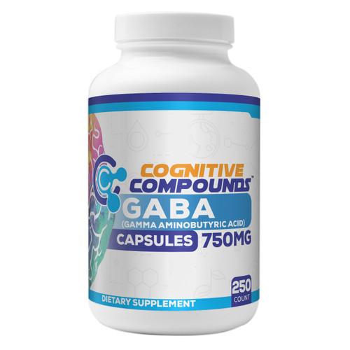GABA (Gamma Aminobutyric Acid) Capsules | 750 mg | 250 count
