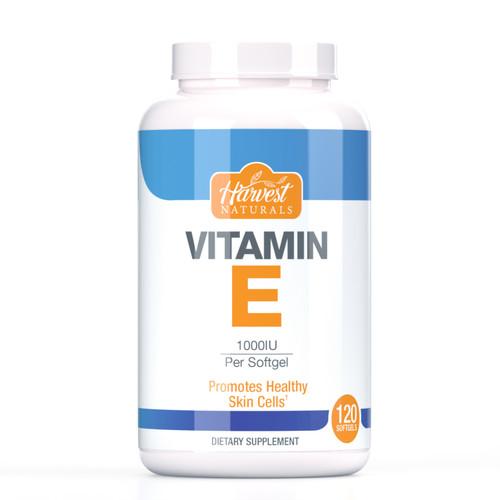 Vitamin E Softgels | 1000IU | 120 Count