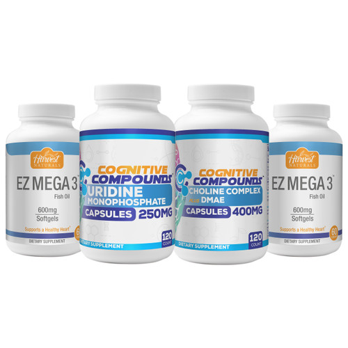 Choline Complex + Uridine + Fish Oil | Happy Stack Bundle