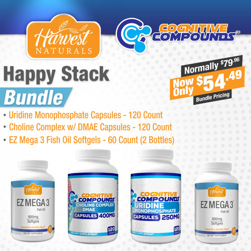 Choline Complex + Uridine + Fish Oil | Happy Stack Bundle