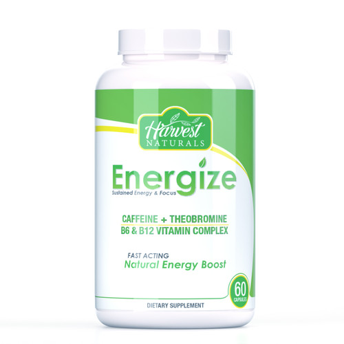 Energize Capsules | Sustained Energy & Focus | 60 Count