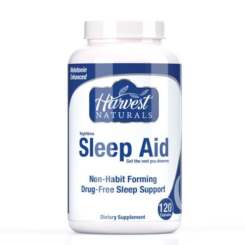 Sleep Aid Capsules | Melatonin-Enhanced | Nighttime Non-Habit Forming & Drug-Free