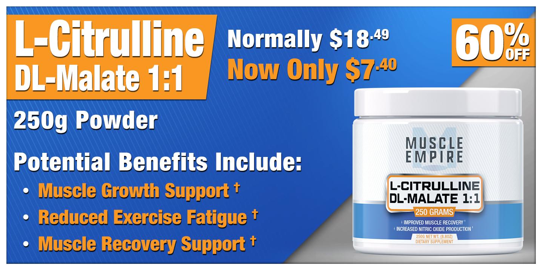 L-Citrulline DL-Malate 1:1 Powder 250 Grams