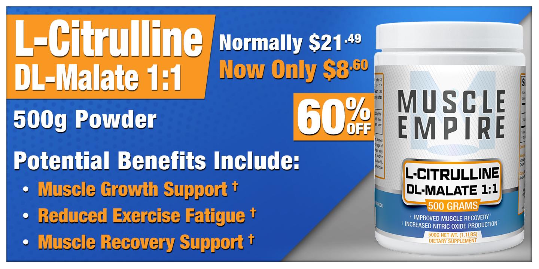 L-Citrulline DL-Malate 1:1 Powder 500 Grams