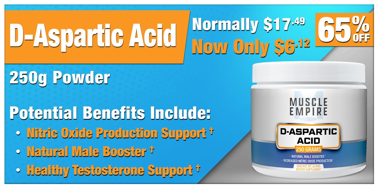 D-Aspartic Acid Powder 250 Grams