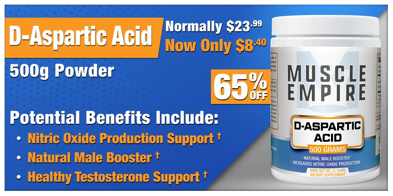 D-Aspartic Acid Powder 500 Grams