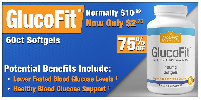 Glucofit 60 Count Softgels