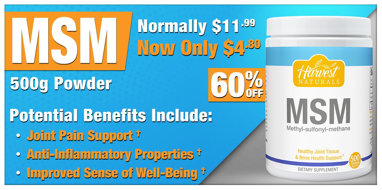 MSM Powder 500 Grams