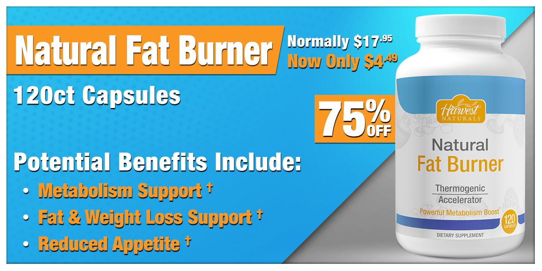 Natural Fat Burner 120 Count Capsules