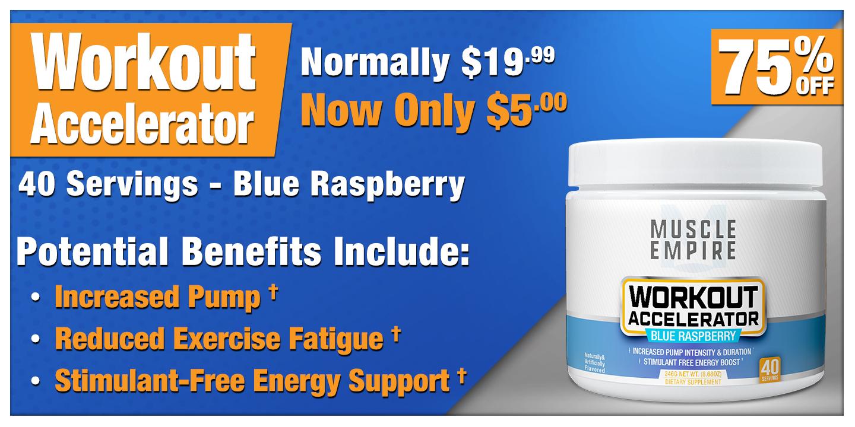 Workout Accelerator Powder Blue Raspberry