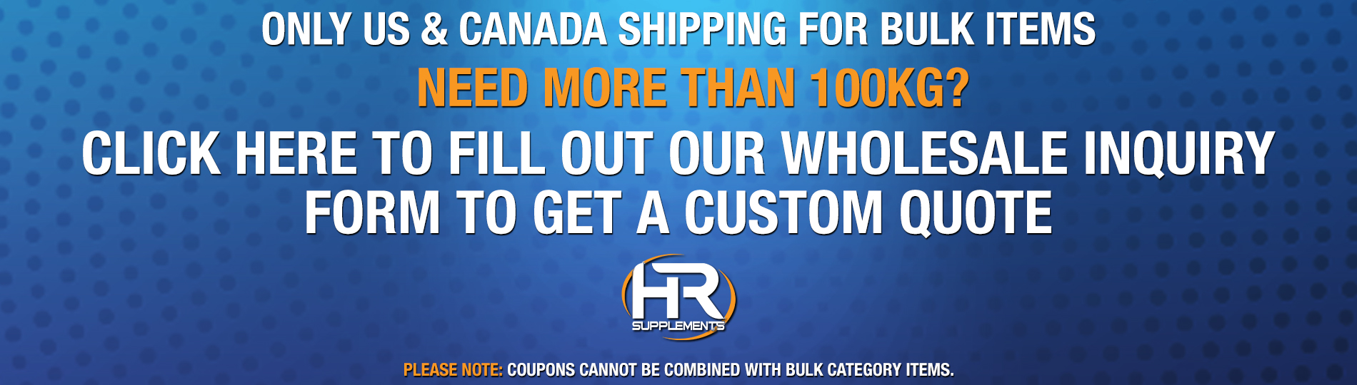 HRsupplements HR supplements bulk wholesale inquiry form link