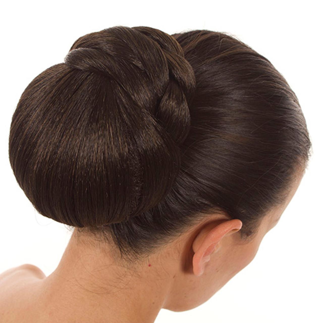 Clip-on Hairpiece Bun   Braided   10 Shades