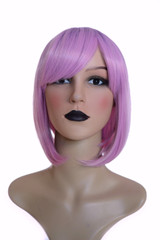 Lavender Purple Root Bob Hairstyle Wig.