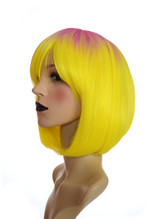 Yellow & Pink Root Effect Bob Wig