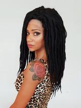 Black Dreadlock Lace Front wig