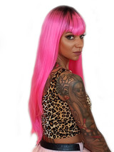 Vibrant Pink Xtina Wig from our DollsHead Wig Range.