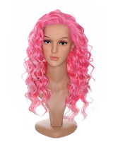 Pink Candy Floss  Lace Front Wig. Sapphire. DollsHead Wigs