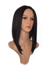 Black Lace Front Wig. Tonya Inverted Lob Hairstyle Wig