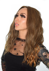 Brown Caramel Tipped Lace Front Teagan Wig. Hawaiian Brown