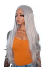 Grey Godiva XL Lace Front Wig. DollsHeadWigs