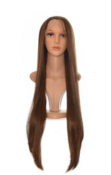 Dark Brown Extra Long Lace Front Wig.