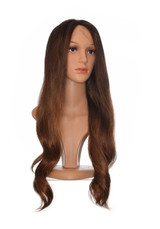 Long Brown Graduated Balayage Lace Front Wig. Kym Wig.