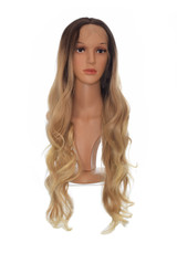 Long Wavy Ombre Honey Blonde Lace Front Wig
