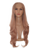 Rose Gold Pink Lace Front Wig. Shanel