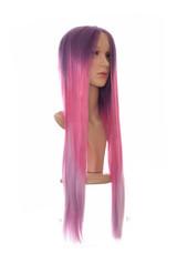 Pink Lilac Tri Tone Ombre Lace Front Wig. Purple Rain