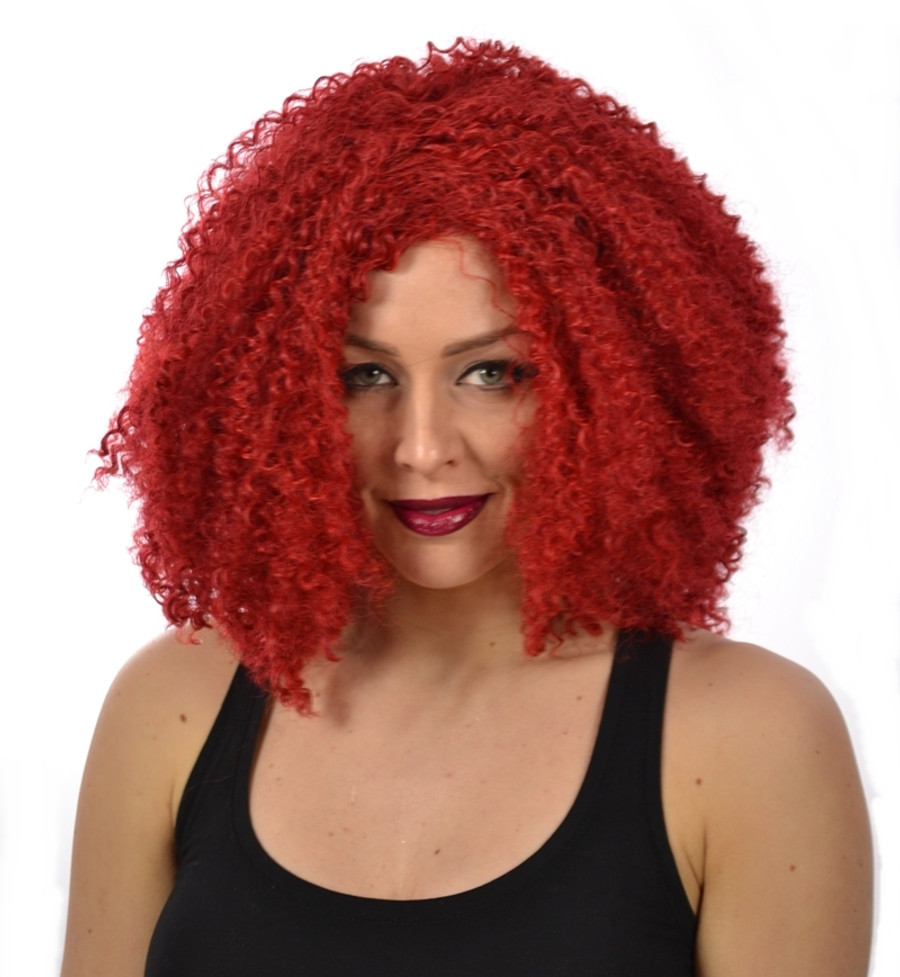 Rihanna Red Afro