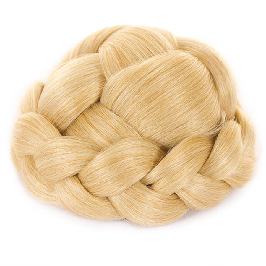 Lattice Effect Hair Bun- Candy Blonde
