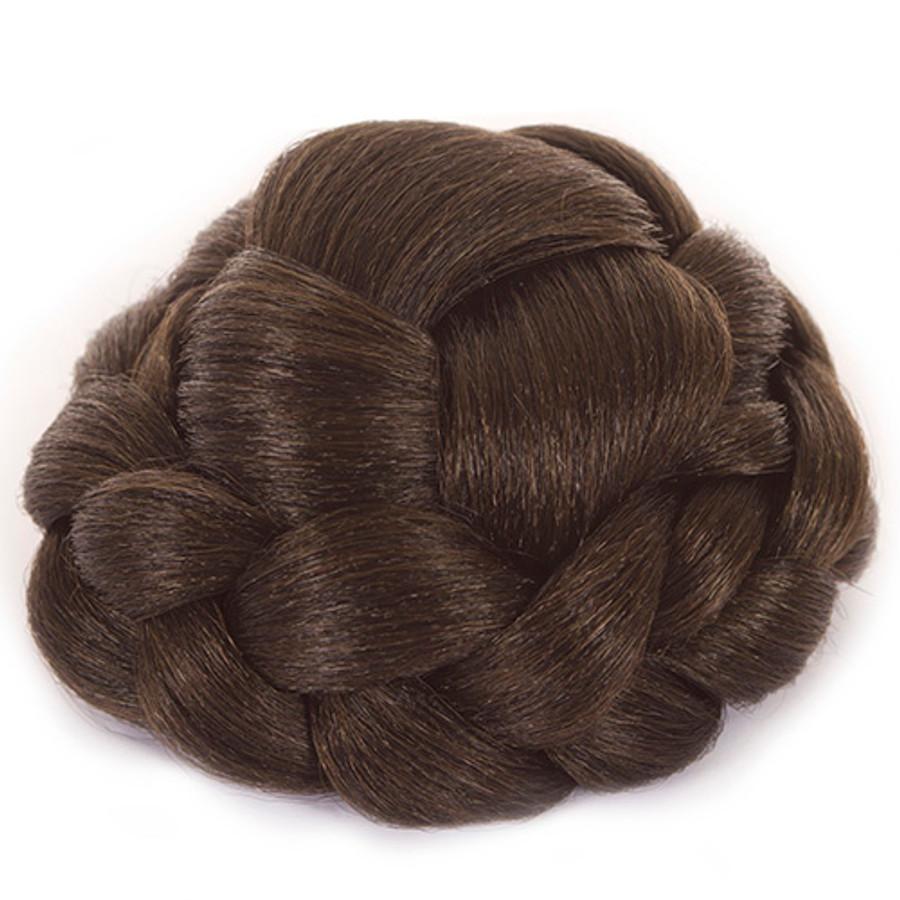 Lattice Effect Hair Bun- Dark Chocolate