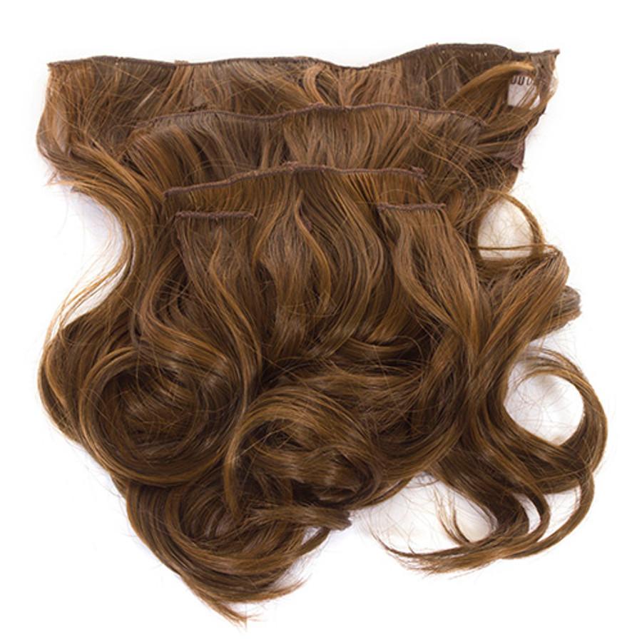 Volu-curl 5 Piece Hair Extensions Coco Mid Brown