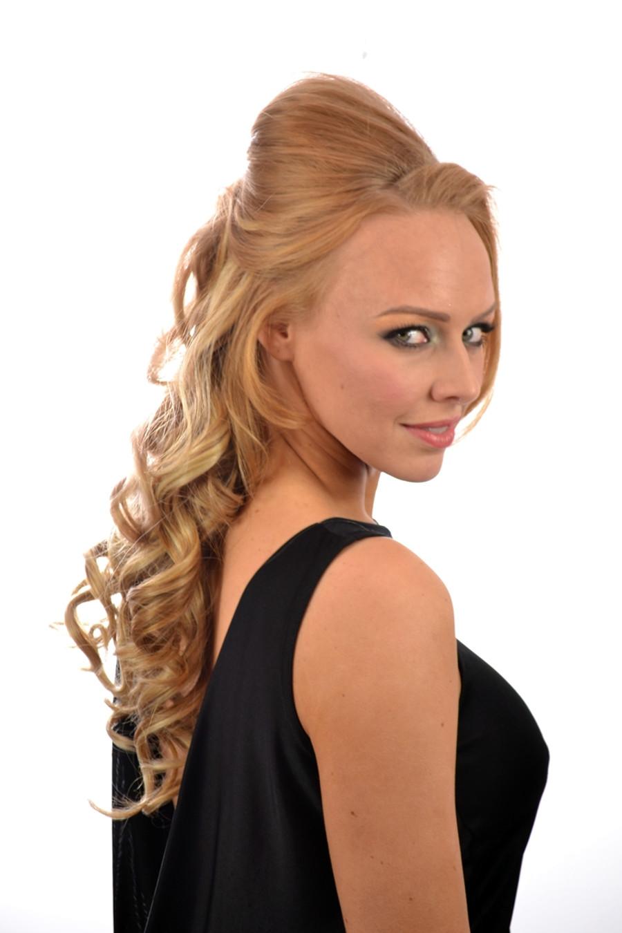 Volu Curl Clip in Hair Extensions Fawcett Blonde