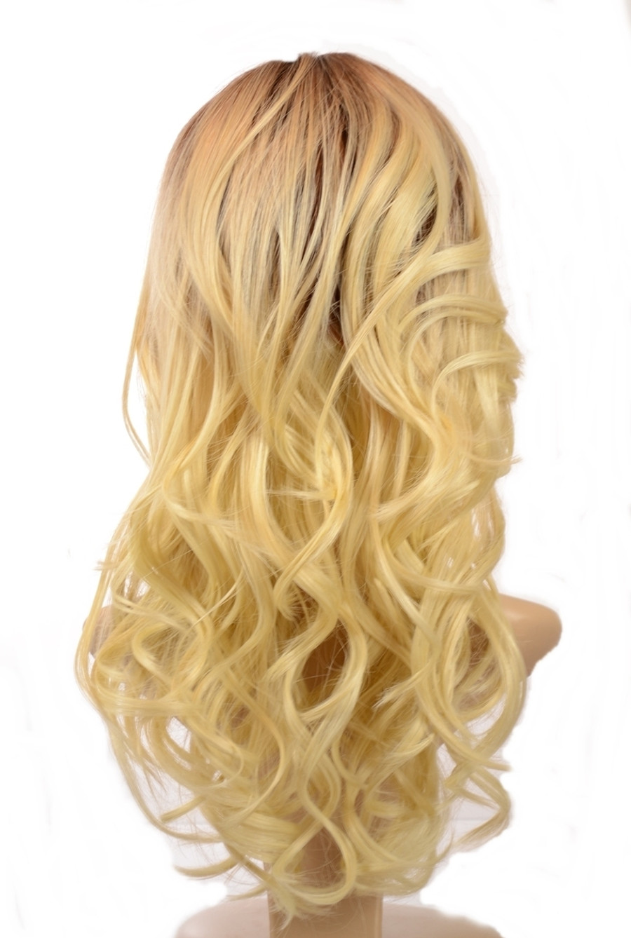 Nicole Rooted Blonde Human Hair Blend Wig