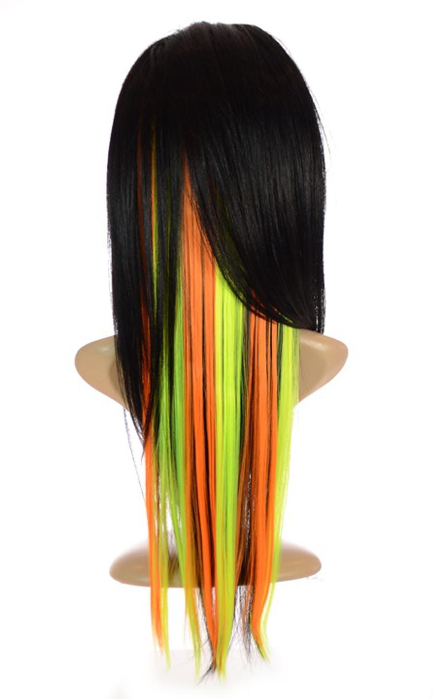 Neon Orange & Yellow Hair Flashes