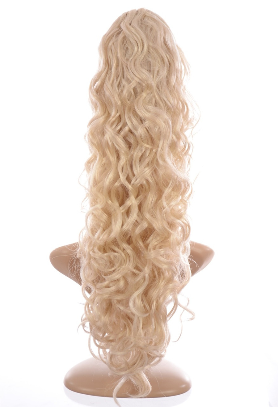 Claw Grip Ringlet Curly Hair Piece Ponytail Clip: Platinum Blonde