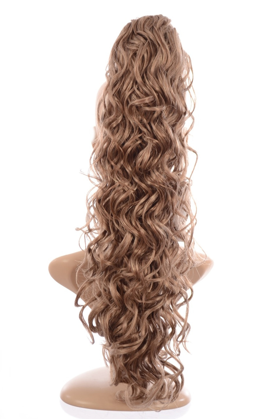 Claw Grip Ringlet Curly Hair Piece Ponytail Clip: Harvest Moon Blonde